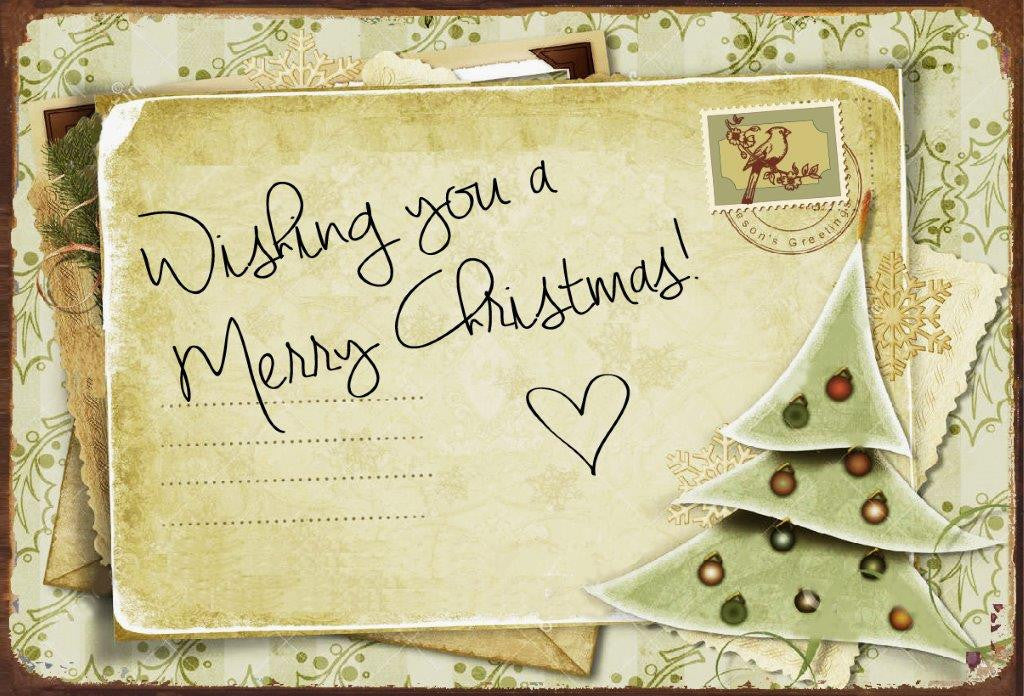 Wishing You A Merry Christmas (Post Card )