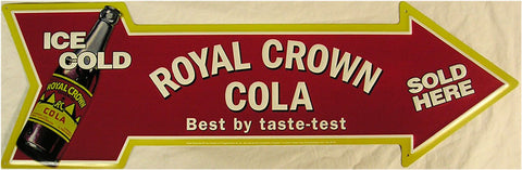 Royal Crown Cola (arrow)