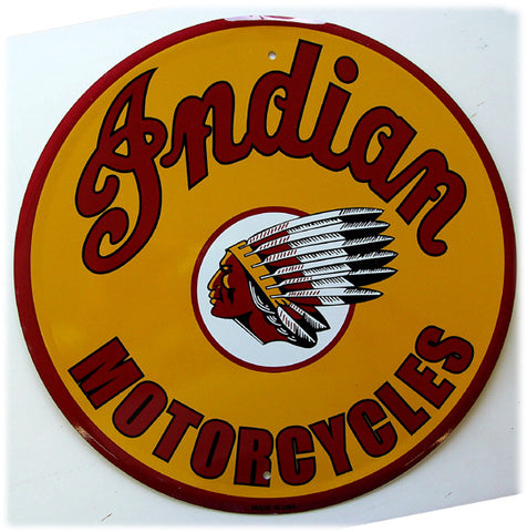 "Indian Motorcycle (12"" diam)"