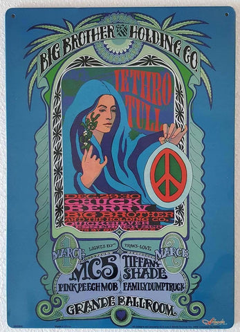 Big Brother and the Holding Company Concert Poster Metal Sign
