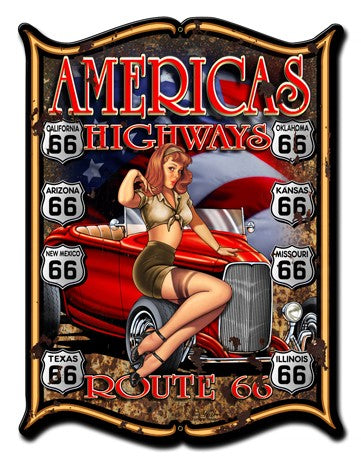 America's Highways Plasma Metal sign