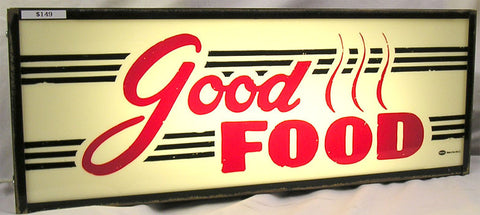 Good Food lited sign