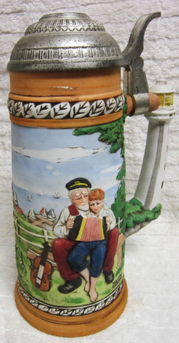 "1981 Norman Rockwell ""Looking Out To Sea"" porcelain Collector's Stein"