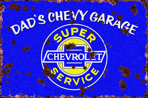 Dad's Chevy Garage (rustic)