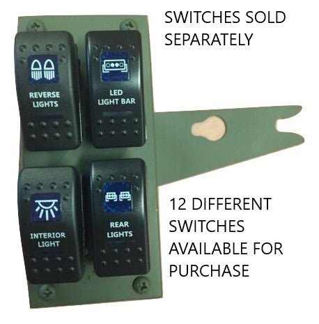 Humvee 4-Gang Rocker Switch Panel with switches or without