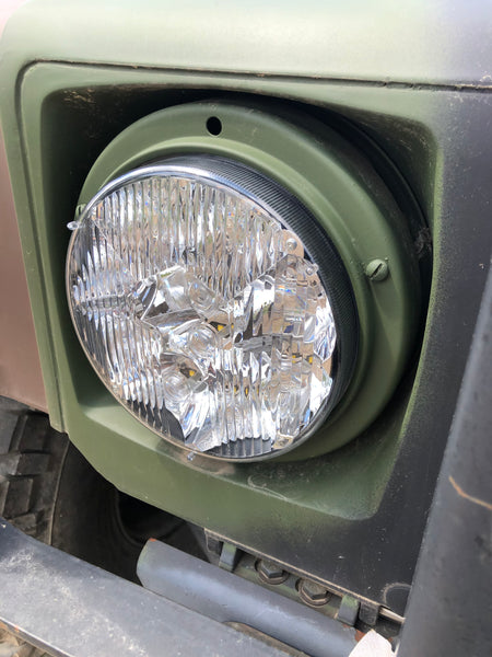 MILITARY HUMVEE HEADLIGHT (SINGLE OR PAIR) + 22 PC LED BULB CONVERSION KIT - OEM STYLE - 24V LED - PLUG AND PLAY HEADLIGHTS HEAD LIGHTS