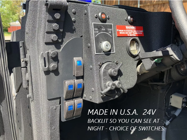 Lighted Rocker Switch Panel - 5 Gang - 24V - Switches Included