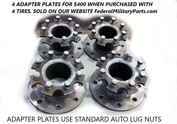 SKID STEER WHEEL / RIM / TIRE ADAPTER PLATES - ADAPT TO 8 LUG RIMS - BOBCAT SKIDSTEER LOADER