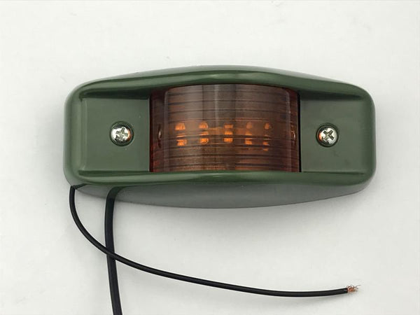Side Marker Clearance Light Amber Lens Green Body LED