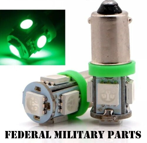 MILITARY HMMWV 2 GREEN LENS COVERS FOR DASH BULBS + 2 RUBBER SEALS + 2 GREEN DASH BULBS - M998 HUMVEE  12339203-1