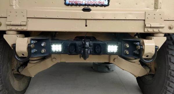 DUAL BACK UP REVERSE 24V LED LIGHT KIT - 2 LIGHTS - SQ - MILITARY HUMVEE