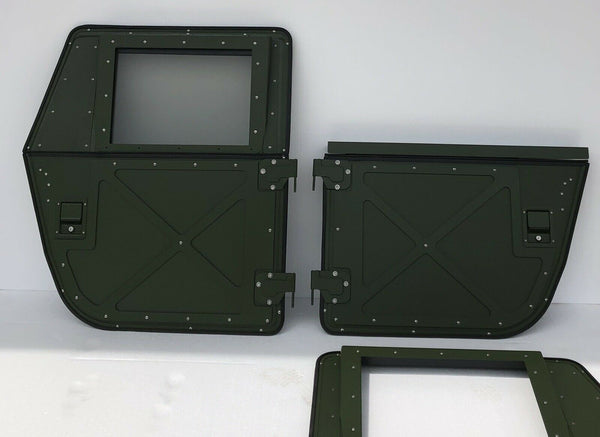 (4) Military HUMVEE M998 Tactical Split X-Doors / Convertible Full Hard Doors to Half Doors /