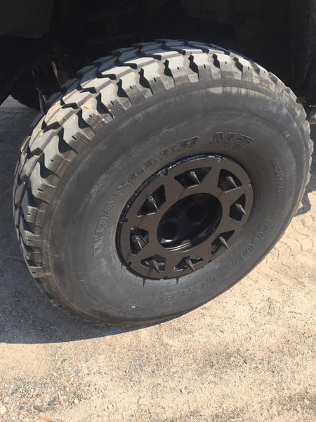 "Humvee Rock Rings Set of Four for 16.5"" Rims"