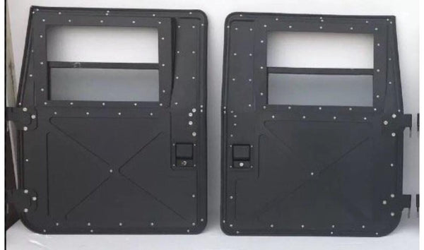 HUMVEE X-DOORS - PAIR (FRONT OR REAR) - BLACK, TAN OR GREEN - HARD DOORS