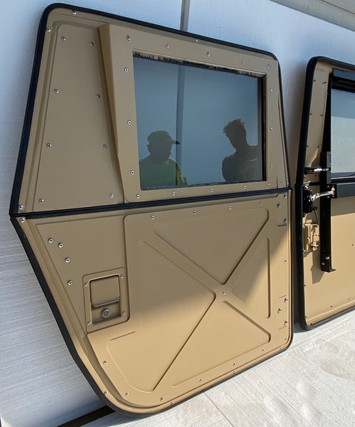 Set of 4 Military Humvee Split X-Doors Convertible from Full Doors to Half Doors