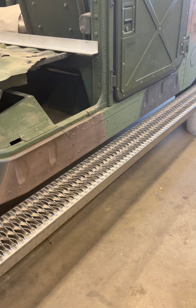 Military Humvee Combat Foot Rails Aluminum