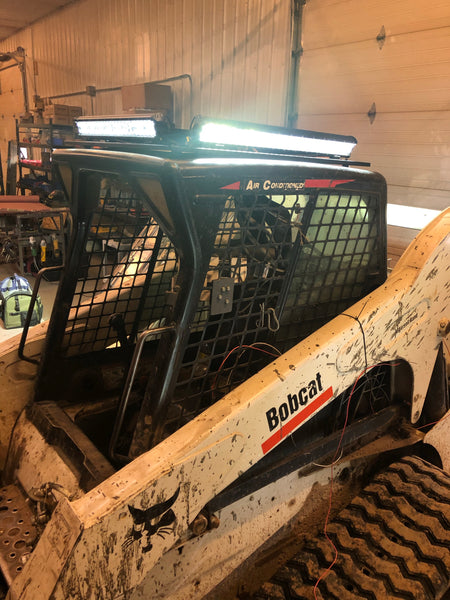 360 DEGREE BOBCAT SKID STEER LIGHT BAR - 4-sided roof top light bar