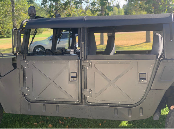Military Humvee Tactical Half Doors Set of Four Black, Tan or Green Hard X-Doors Lower Half