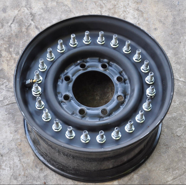 "HUMVEE Wheel Split Rim 24 Bolt 16.5"" 8 Lug"