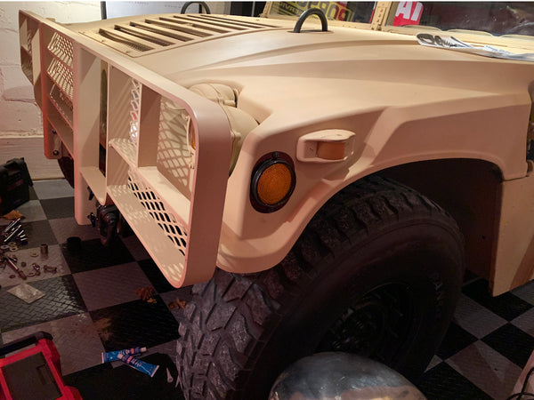 Heavy Duty HUMVEE Brush Guard with Mounting Brackets and Installation Kit - No Mesh Screen - Luverne H15-GGB