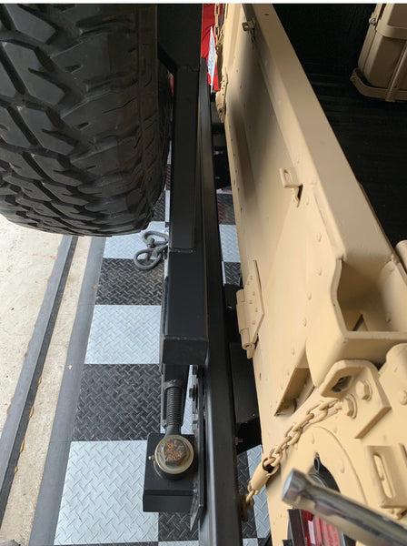Swing Away Spare Tire Carrier Plus Mounted Spare Tire Goodyear MT Includes Run Flat Insert