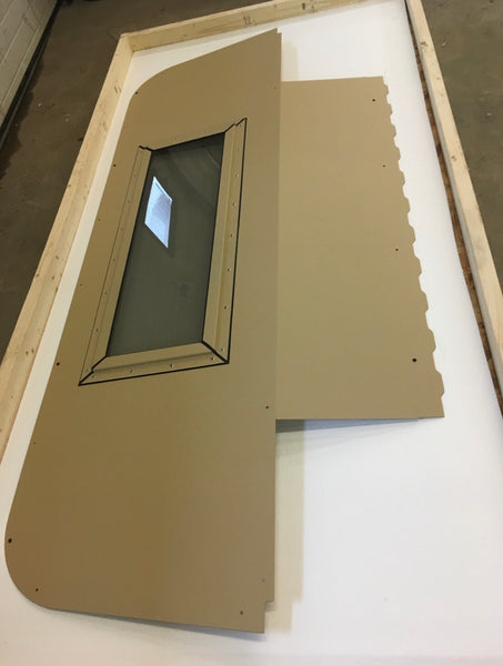 Humvee Deluxe Iron Curtain Black, Green, Tan Rear Curtain Replace Canvas With Steel M998 Hmmwv