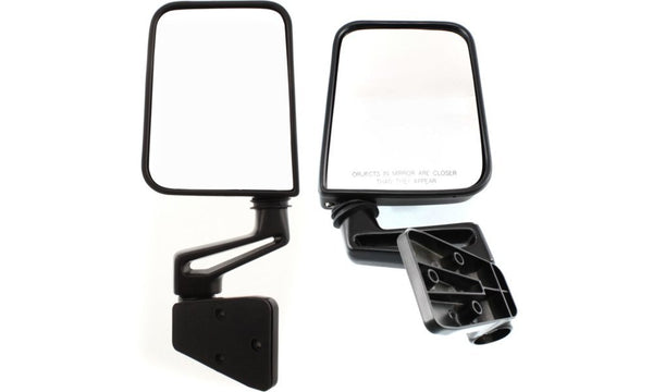 Military Humvee Mirrors - Pair - With Adapter Plates - No drilling to install - M998