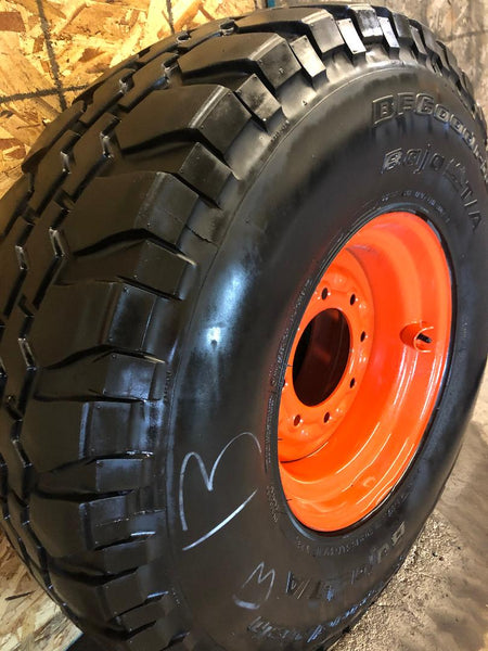 "New Skid Steer Rim + 37"" Mounted Tire - Single or Sets"