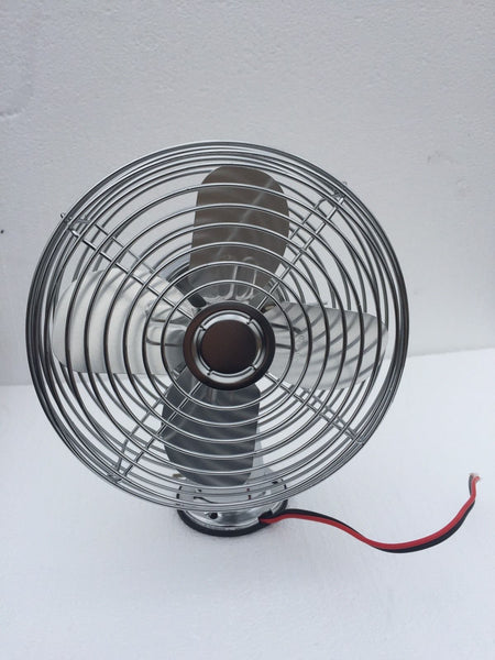 COMBINE CAB WINDSHIELD COOLING FAN DEFROST CHROME 2 SPEED 600 CFM 12V / 24V