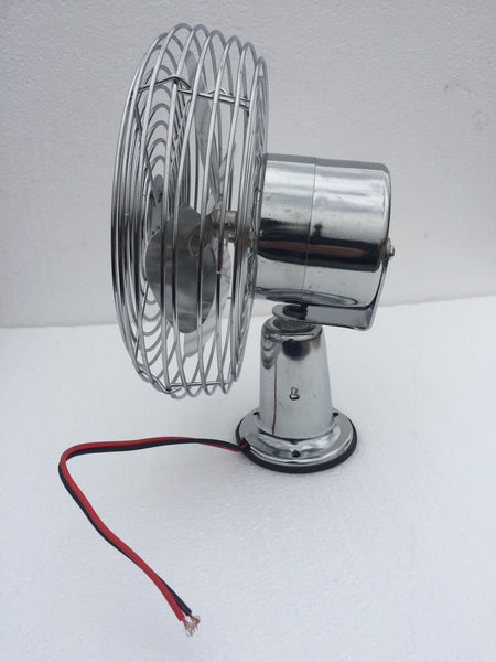 TRUCK CAB / BUS VAN WINDSHIELD / COOLING FAN / DEFROST CHROME 12V / 24V