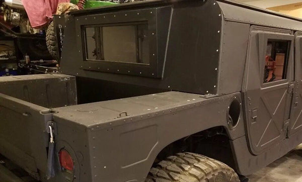 COMPLETE PREMIUM HARD CAB KIT - 4 X-DOORS, HARD TOP ROOF, IRON CURTAIN. M998 MILITARY HUMVEE