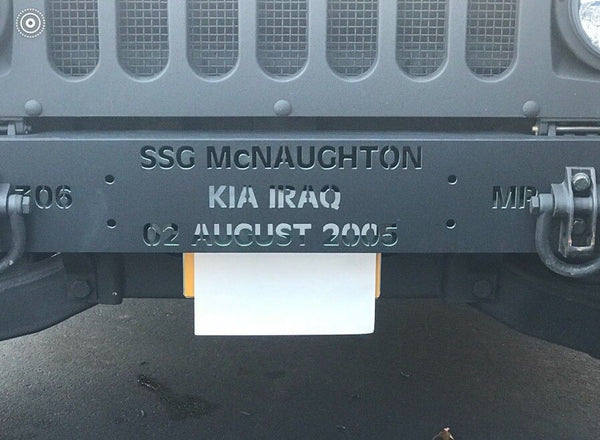 CUSTOM TRIBUTE BUMPER - MILITARY HUMVEE M998