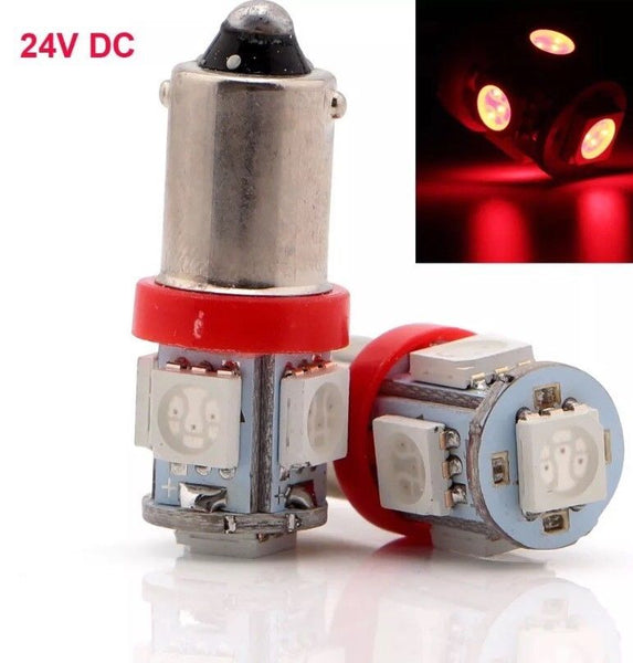 HUMVEE RED LED Dash light bulbs, BRIGHTEST HMMWV M998 24V REPLACEMENT BULBS