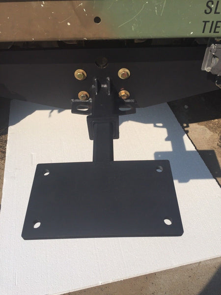 MILITARY HUMVEE QUICK WINCH MOUNT PLATE CLASS 3 RECEIVER STYLE M998 M1038 M1025