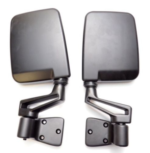 HUMVEE MIRRORS - Set Of 2 - ADAPTERS OPTIONAL - MILITARY M998 H1 HMMWV X-DOORS HUMMER - DOOR HINGE MOUNTED