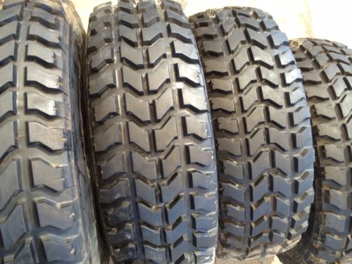 "Humvee Tires - Matched Set of Four or Five - 37"" - Goodyear mt Radials - Mounted on RIMS - INCLUDES RUN-FLAT INSERTS"