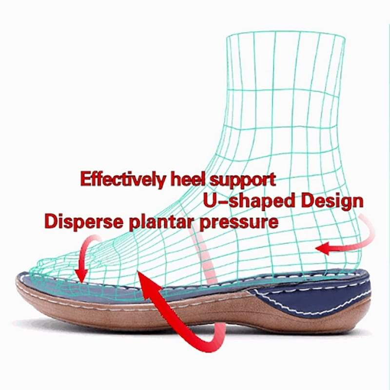 Women's Handmade Leather Breathable Sandals with Perf Toebox