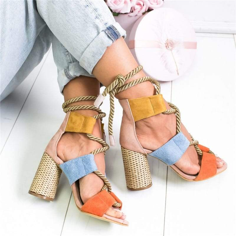 Summer Lace Wedge Espadrilles