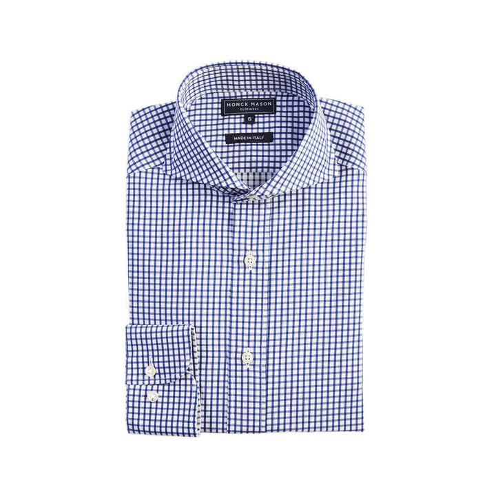 DRESS SHIRT - NAVY CHECK