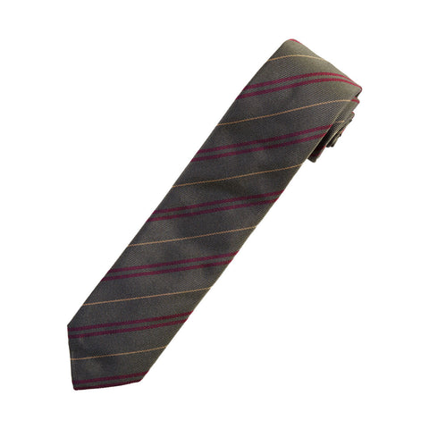 Silk Tie - Green Stripe