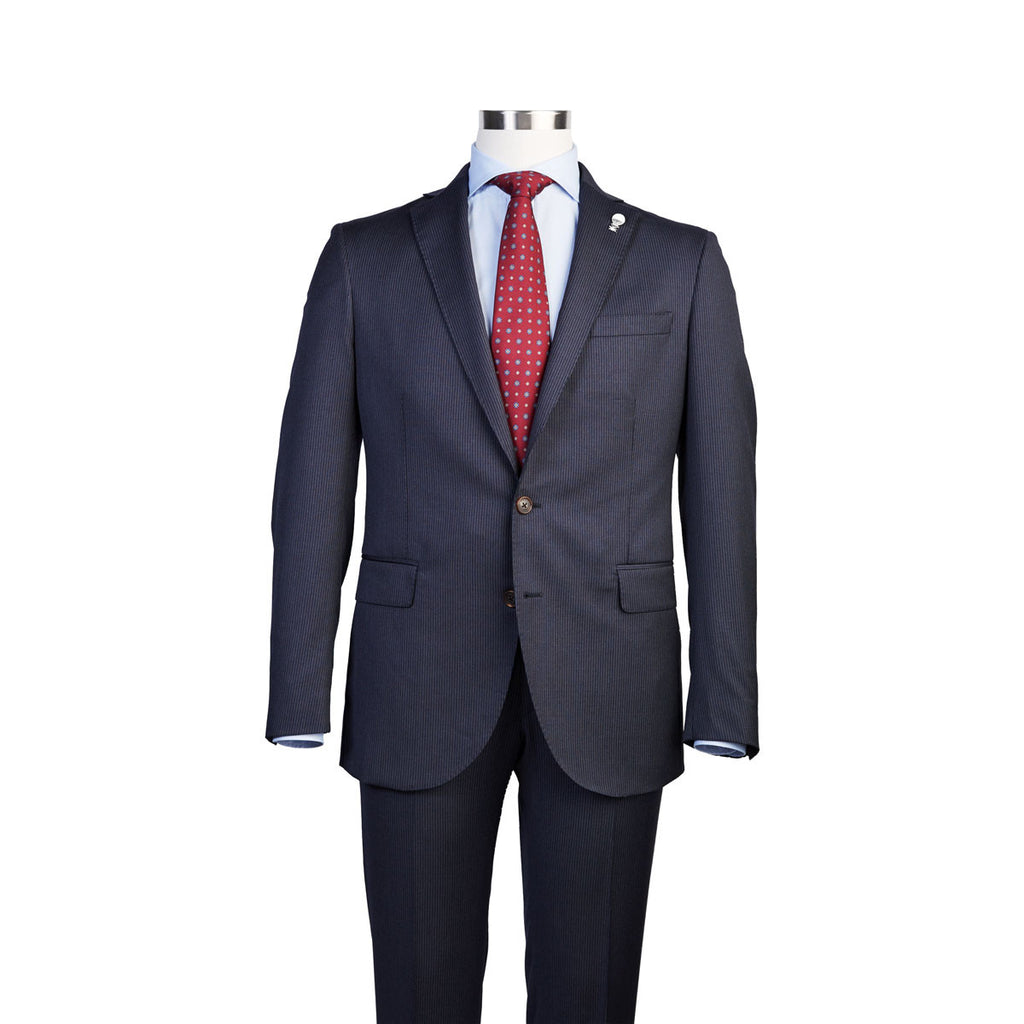 SUIT - NAVY PINSTRIPE