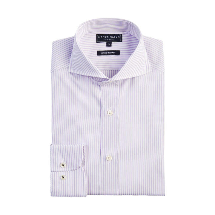 DRESS SHIRT - PURPLE STRIPE