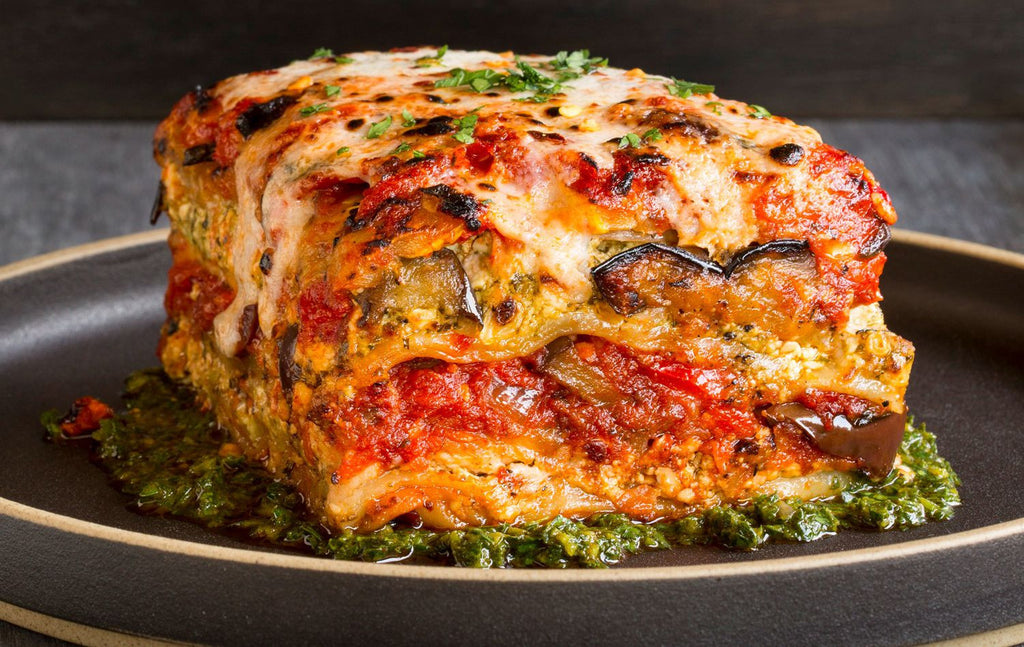 Vegan Grilled Garden Vegetable Lasagna With Puttanesca Sauce