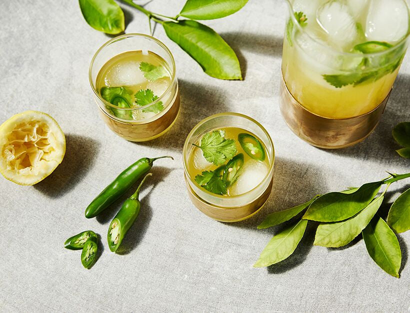 Spicy Cilantro Lemonade - Thanks GOOP!