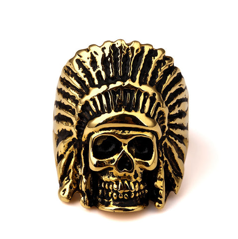 Indian Chief Gold Ring