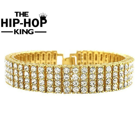 Iced Out 4 Row Tennis Bracelet