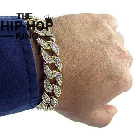Iced Out Cuban Link Bracelet