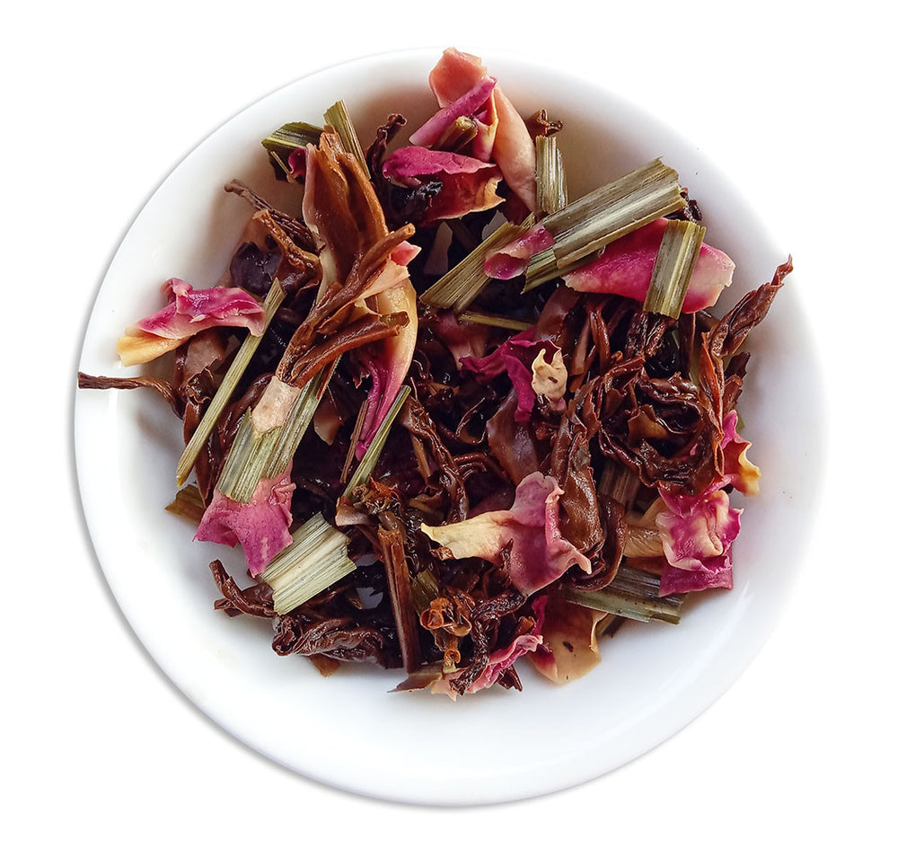 Organic Assam Black Wellness Tea - Wet Leaves