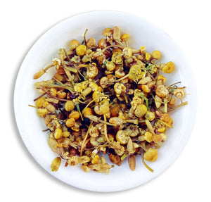 Organic Chamomile Tea : Chamomile Radiance - Wet Leaves