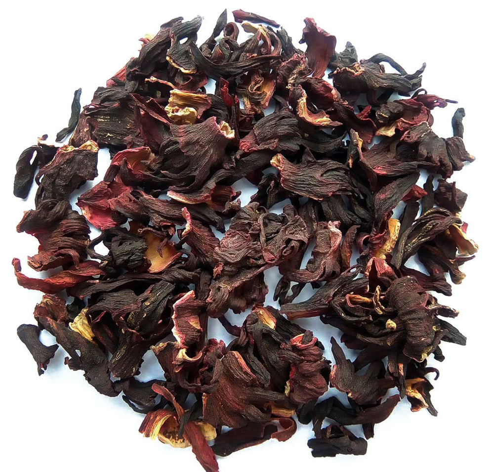 Organic Hibiscus Tea :: Zesty Hibiscus - Wet Leaves